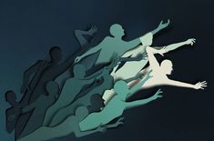 Take a look at the illustration work of Estonian artist Eiko Ojala. The artist works digitally without the aid of software where he draws everything by hand Origami Paper Art, 3d Paper, Paper Crafts, Cut Paper Art, Paper Cutting, Papercut Art, Eiko Ojala, Paper Illustration, Kirigami