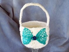 Decorative crocheted  multi use basket made by sanmancreations, $8.00