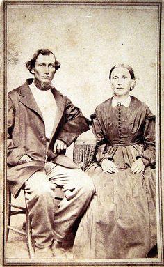 Unidentified Civil-War-era couple, cdv by Ann Arbor photographer and portrait painter R. D. Palmer.   Flickr - Photo Sharing!