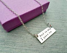 Awareness necklace semi-colon mental health by TinyTreasuresBySC