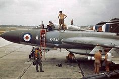 Gloster Javelin XH842 of 60Sqn armed with a De Haviland Firestreak Air to Air Missile. RAF Tengah, Singapore