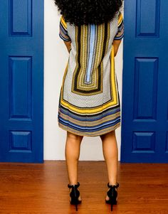 Solange Shift Dress back