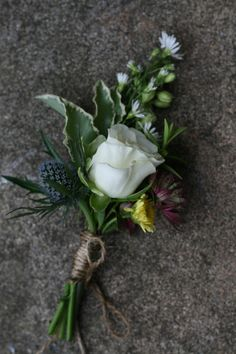 Rustic buttonhole for a July wedding at Wedderburn Castle. Contact The Stockbridge Flower Company, Edinburgh for more details Flower Company, July Wedding, Edinburgh, Rustic Wedding, Succulents, Castle, Create, Plants, Beautiful