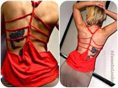 DIY Summer Style 2013: Create your own summer look!! New blog post for a simple summer tank to show off your back muscles you've been doing all your rows for ;)
