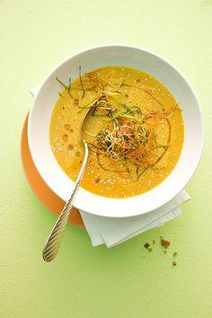 Crema di lenticchie rosse e carote