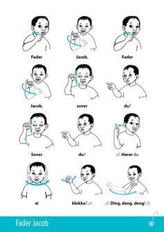 Fader-Jacob, Tegn-til-tale Singing, Pdf, Education, Learning, Montessori, Mindset, Tips, Google Search, Communication