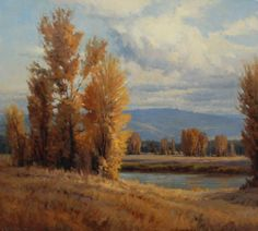 """""""By the River"""" Oil    36"""" X 40"""" john poon"""