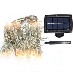 Christmas Wallpaper : INST Solar Curtain lights 6.5ft*8.2ft 200 LEDs,1800mah…