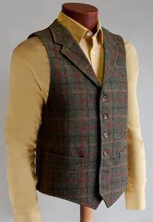 If there are more then 10 customers for us Bob Boutique can send our professional Designer Tailor to visit you with all kind of Fabric Swatches & Style's at any time any place. Harris Tweed Waistcoat, Tweed Vest, Tweed Suits, Mens Suits, Sharp Dressed Man, Well Dressed Men, Moda Formal, Outfits Hombre, Gentleman Style