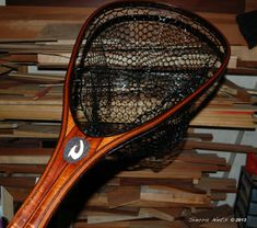 Sierra Nets Custom Fly Fishing Net of Curly Koa - Snowbird