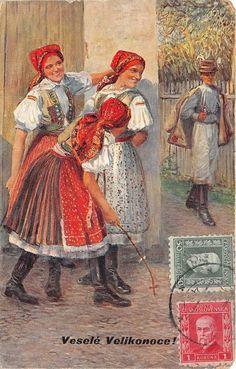 B13368 Czech National Folk Folklore Vesele Velikonoce    eBay
