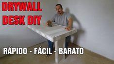 Como Fazer MESA DRYWALL DESK Faça Você Mesmo DIY
