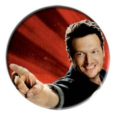 ONLY ONE Blake Shelton 2-1/4 Inch Button
