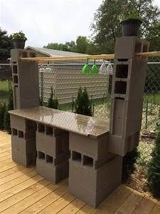 Diy Outdoor Cinder Block Bar Cinderblock Baroutdoor Ideas Cinder Block Furniture Cinder Block Garden Outdoor Bar