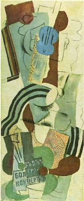 TICMUSart: Woman with guitar - Pablo Picasso (1913) (I.M.)