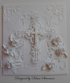 Selma's Stamping Corner and Floral Designs: Happy Easter Wedding Anniversary Cards, Wedding Cards, First Communion Cards, Communion Cakes, Spellbinders Cards, Christian Cards, Embossed Cards, Marianne Design, Scrapbook Cards