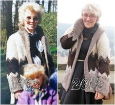 Thrifty Throwback Thursday: Omas Wolljacke | Ninutschkanns.com #thriftythrowbackthursday #throwbackstyle #coat #strick #cardigan #past #vintagestyle #90s #outfit #look
