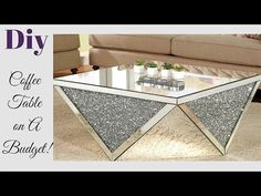 DIY LIVING ROOM COFFEE TABLE - HOW TO ACHIEVE A HIGH END LOOK FOR LESS! - YouTube