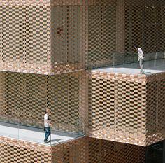 losada garcia arquitectos completes checkered la gota cultural center