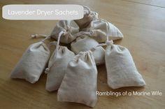 Thrifty Thursday - DIY Dryer Sachets | Ramblings of a Marine Wife