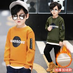 2018 New Winter Warm Plush Boys Hoodies Letter Boys Sweatshirts Girls Hoodies Long Sleeve Hoodies Kids Cotton Coats Cute Kids Fashion, Toddler Fashion, Boy Fashion, Fashion Clothes, Boy Clothing, Dress Clothes, Clothing Styles, Fashion Games, Fashion 2018