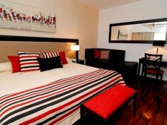 #hotel #bedroom #red #black #indesign #design #architecture