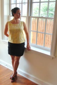 Sorbetto top with full bust adjustment
