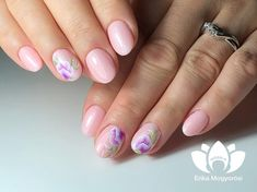 Lovely short, pink nails! 💅 #lovely short #pink #nails #welovenails #nailshop #gellack321 #2mbeauty #onestroke #gelpaint #trainer #mogyorosierika