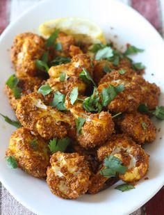 Tandoori-Roasted Cauliflower with Almond Butter by SeasonWithSpice.com