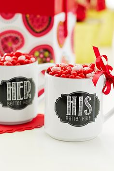 Sometimes coffee and knowing that someone understands you are the keys to getting through the day. Here's Pier 1's twist on the traditional his and hers mugs.