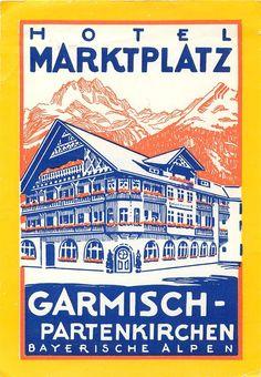 HOTEL MARKETPLATZ ~ GARMISCH GERMANY