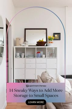 You may think you've maxed out the storage potential of your small apartment — but there are spots you aren't considering. I #smallspaces #storage #storagesolutions #organizations #storagehacks