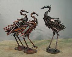 Scrap Metal Animal Sculptures by Robert Jefferson Travis Pond