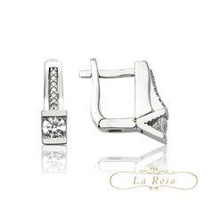 Cerceii LRE0098 sunt speciali prin imbinarea formei geometrice cu eleganta cristalelor si a aurului alb.