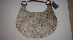 Hybrid Handbags Large Hair on Hide Hobo Silver Brass, One of a Kind Hand Made #HybridHandbags #Hobo