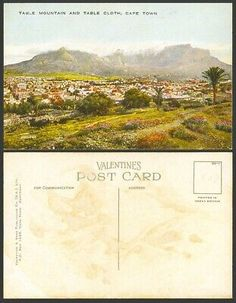 South Africa Old Colour Postcard Table Mountain & Table Cloth Cape Town Panorama   eBay
