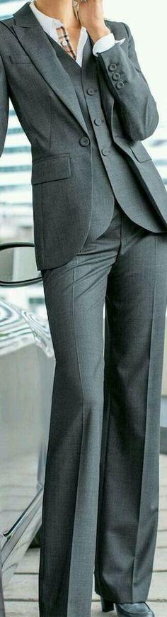 Women Ladies Custom Made Jacket+Pants+Vest Tuxedos Formal Work Wear New Suits #Unbranded #PantSuit