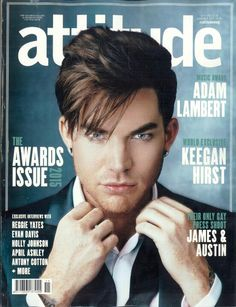 Here's the Adam Lambert @AttitudeMag cover, what do you think?