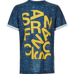 Boys navy San Fran print t-shirt - print t-shirts - t-shirts / vests - boys