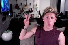 And when his arms looked like this making a peace sign.