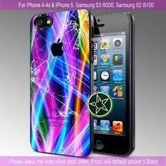 Rainbow Beautiful Broken Glass iPhone 4/4S/5, Samsung S4/S3/S2 cover cases   sedoyoseneng - Accessories on ArtFire