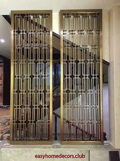 Wall Partition Design, Decorative Metal Screen, Folding Screen Room Divider, Main Entrance Door Design, Stainless Steel Screen, Art Deco Door, Washbasin Design, Cosy Home, Window Grill Design