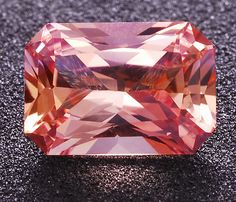 Untreated, eye clean, Padparadscha Sapphire octagon weighing 0.88 cts, from Tunduru, Tanzania