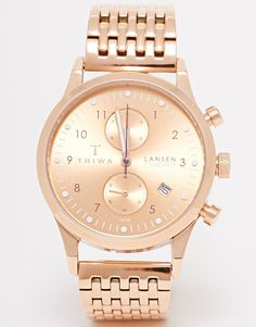 Image 1 of Triwa Lansen Chronograph Rose Gold Watch