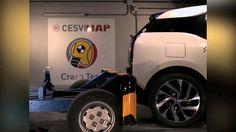 Crash Test Trasero BMW I3 REX  en CESVIMAP