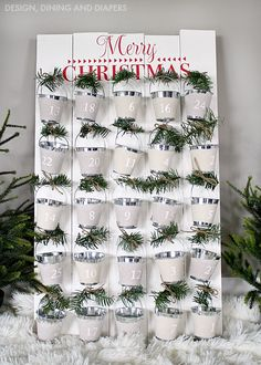 DIY Advent Calendar (made with the help of the Silhouette) - Design, Dining + Diapers