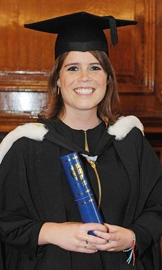 Beaming with pride, Princess Eugenie attended her graduation ceremony at Newcastle University in 2012. Eugenie was awarded her 2:1 combined degree in English and Art History.   (Photo © Owen Humphreys/WPA Pool/Getty Images)