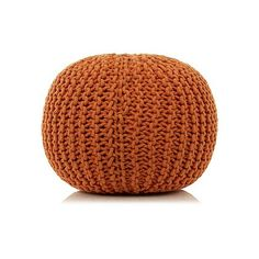 Knitted Pouffe - Orange | Home & Garden | George at ASDA
