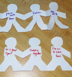 How to be a friend - paper doll activity || Gift of Curiosity #kids #parenting