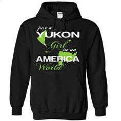 Yukon GIRL IN AMERICA - #tshirt inspiration #sweater pattern. ORDER HERE => https://www.sunfrog.com/Valentines/Yukon-GIRL-IN-AMERICA-Black-Hoodie.html?68278